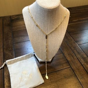 Kendra Scott Crowley Y Necklace In Gold- New